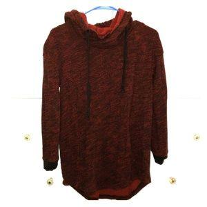 Long berry sweater